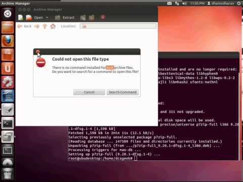 How To Install 7 zip on Ubuntu / Linux Mint