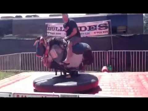 Bull Riding @ Texas Crawfish Festival - 2013