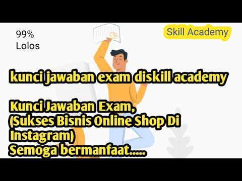 Kunci Jawaban Exam, diSkill Academy (Sukses Bisnis Online ...