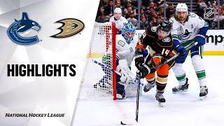 Nhl Highlights | Canucks @ Ducks 11/01/19