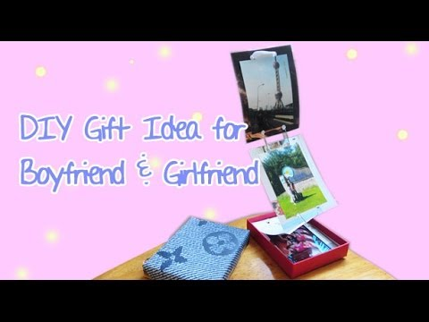 Simple gift idea for boyfriend girlfriend photo chain for Simple gift for a boyfriend