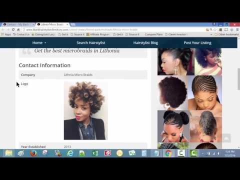 Black Hair stylist Directory - Set Up Your CONTACT DETAILS