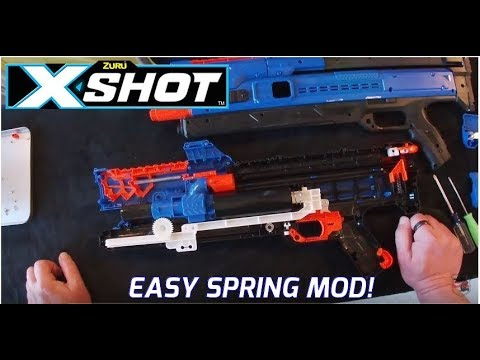X-SHOT CHAOS ORBIT 10 Kg Spring Mod Guide! Easy To Install! Is 10 Kg Powerful Enough?