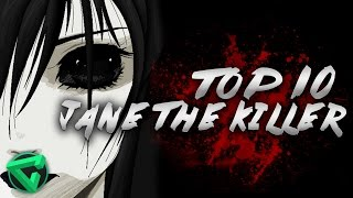 "TOP 10 CURIOSIDADES DE JANE THE KILLER | ""Mundo Creepypasta"""