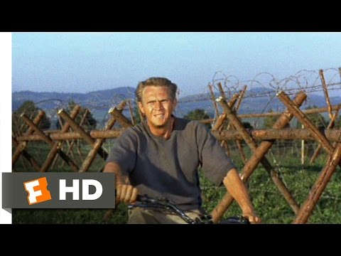The Great Escape (10/11) Movie CLIP - Motorcycle Escape (1963) HD