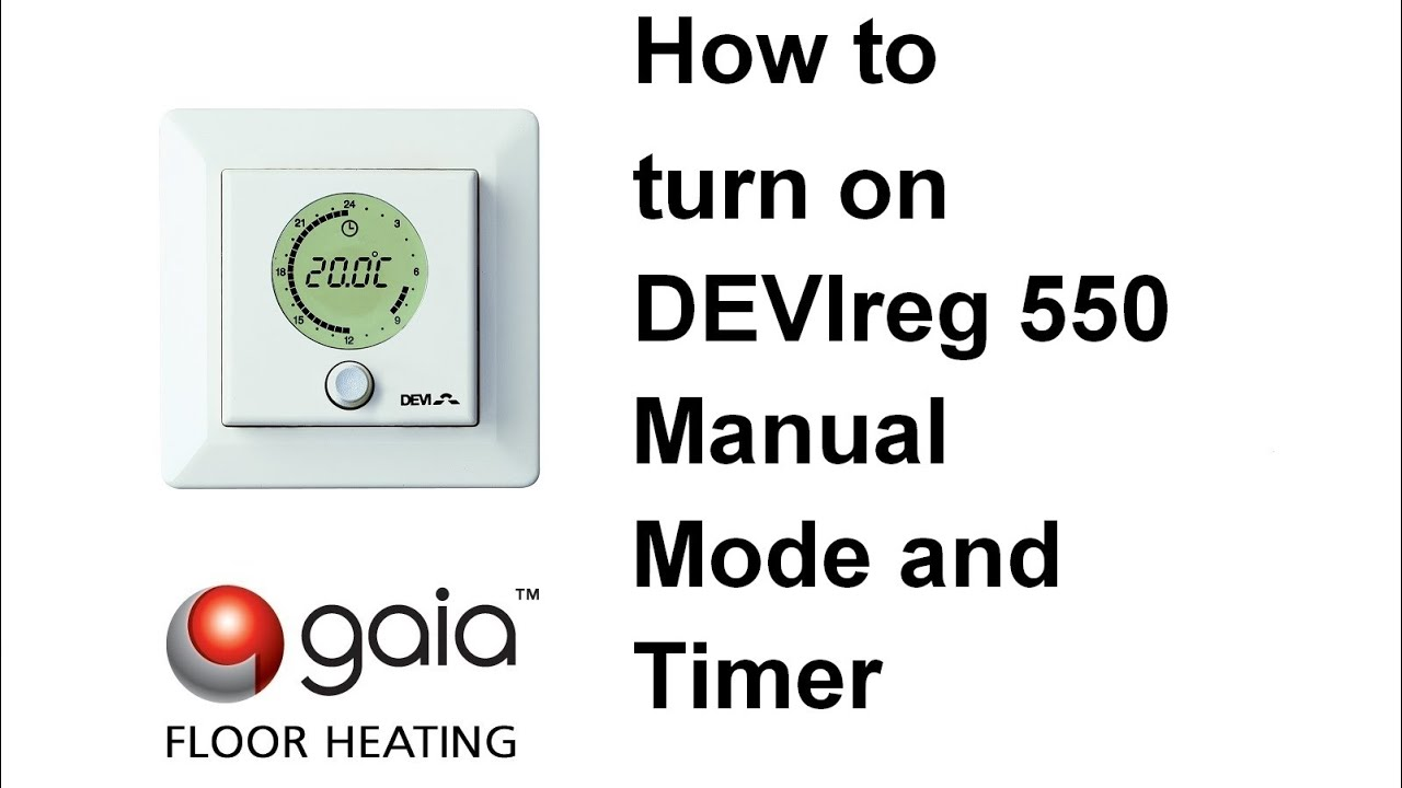 maxresdefault how to turn on devireg 550 manual mode and timer youtube devi underfloor heating wiring diagram at soozxer.org
