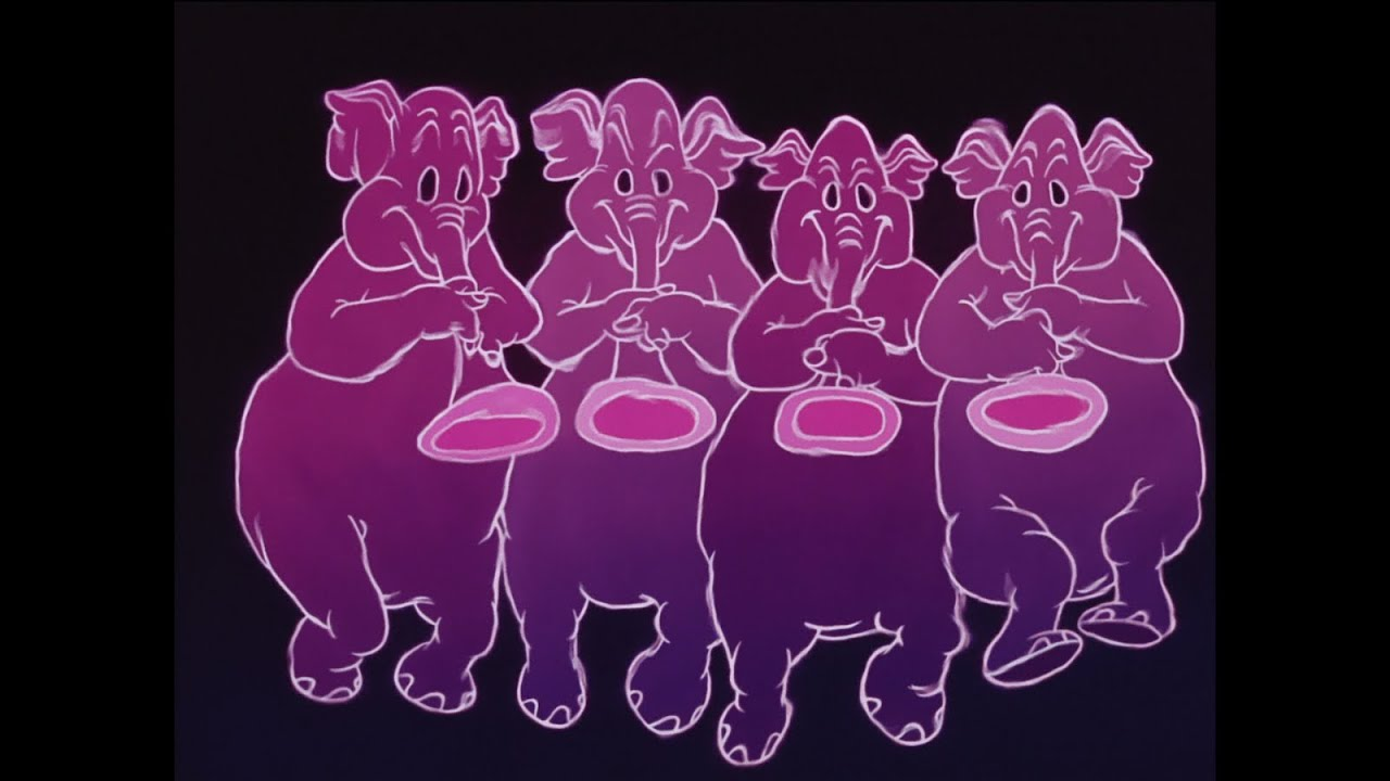 أفيال وردية جيش دمبو Youtube