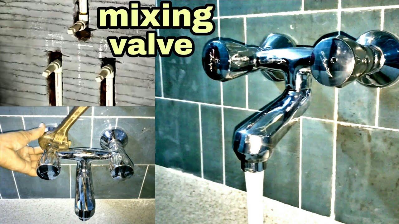 bathroom wall mixer installation #plumbingwork - YouTube