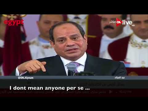 President Abdel-Fatah Al-Sisi speech in Egypt's Coptic Orthodox Church