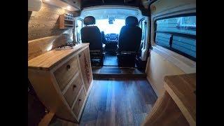 DIY Promaster conversion camper van tour. Luxury vanlife!