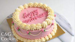 センイルケーキの作り方   asmr ケーキ作り お菓子作り