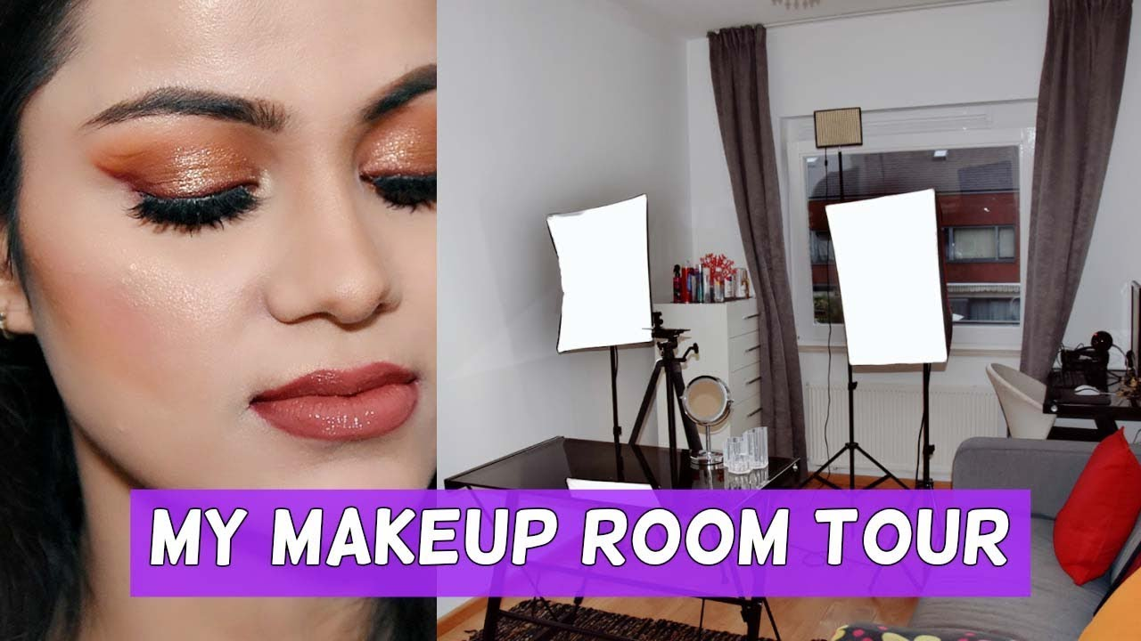 MY MAKEUP ROOM TOUR  My Camera, Lights, Editing, Set Up BeYourself Channel