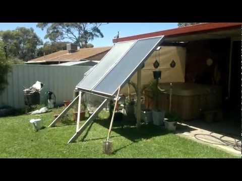 Solar spa heater