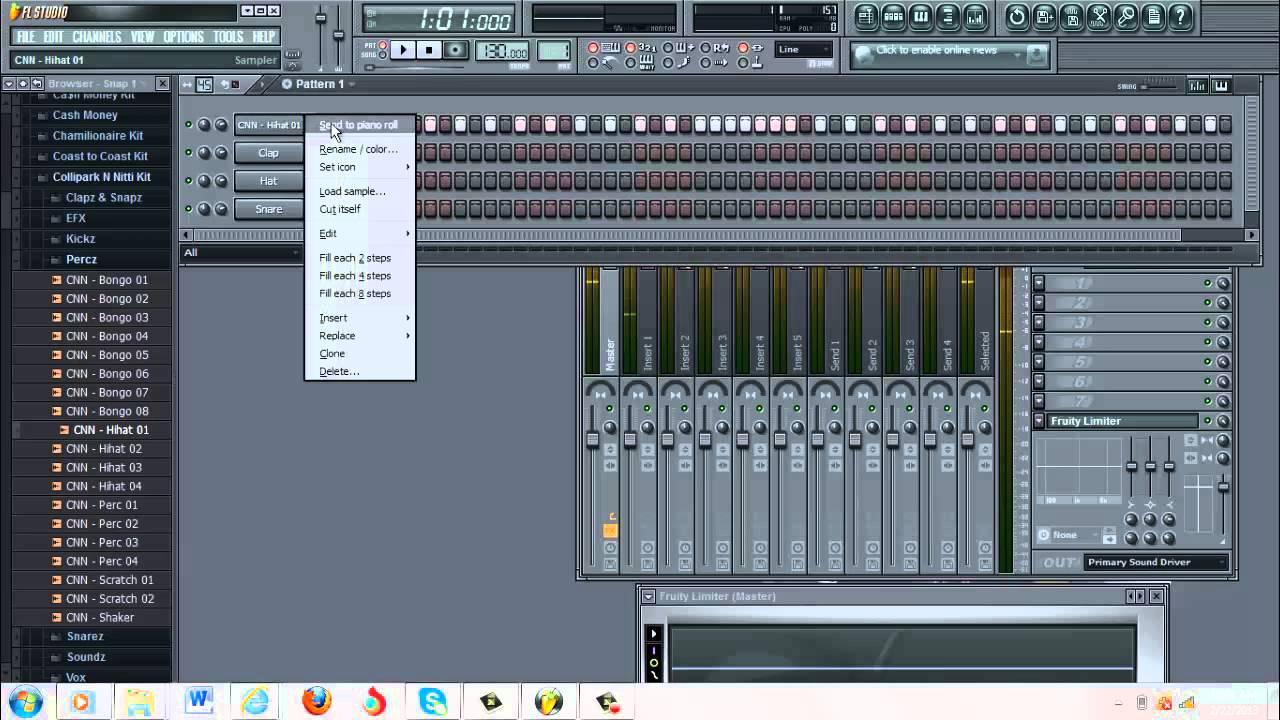 how to make hi hats for a trap beat in fl studio - YouTube