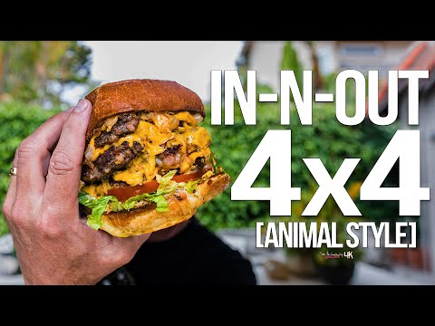 Homemade In-N-Out Burger 4×4 (Animal Style) | SAM THE COOKING GUY 4K