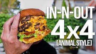 Homemade In-N-Out Burger 4x4 (Animal Style) | SAM THE COOKING GUY 4K