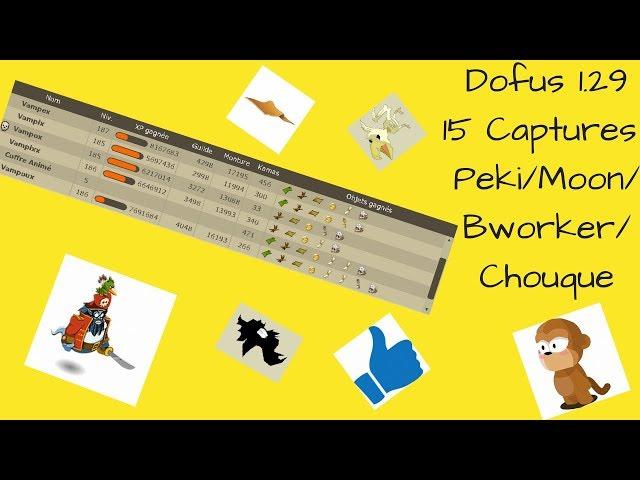 Dofus 1.29, 15 Captures Drop, Moon/Chouque/Bworker et Peki !!! #46