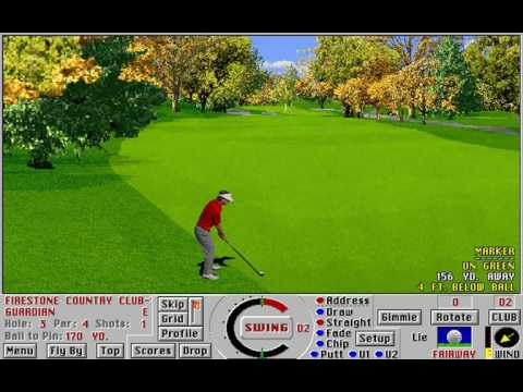 Links: Championship Course - Firestone Country Club (Access Software) (MS-DOS) [1991]