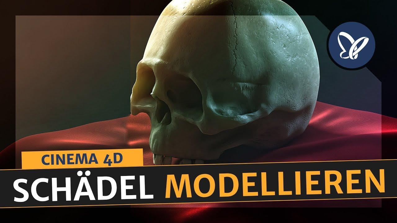 Cinema 4D Tutorial: So baust du dir deinen eigenen Schädel | Teil 01 ...