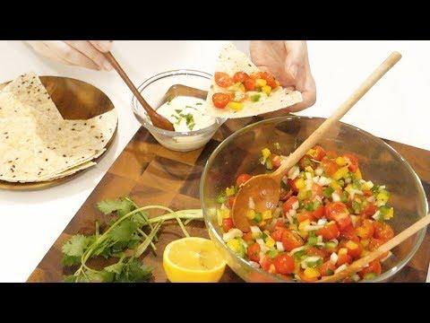Fresh and Healthy Tomato Salsa Salad with Tortilla 토마토 살사 샐러드 with 또띠아