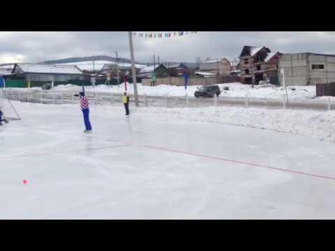 Хоккей с мячом. 14 зимние сельские игры. Бурятия 2017.