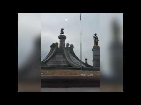 Ata toprağımız Türkmenistan'ın başkenti Aşkabat'daki Oğuz Kağan heykeli