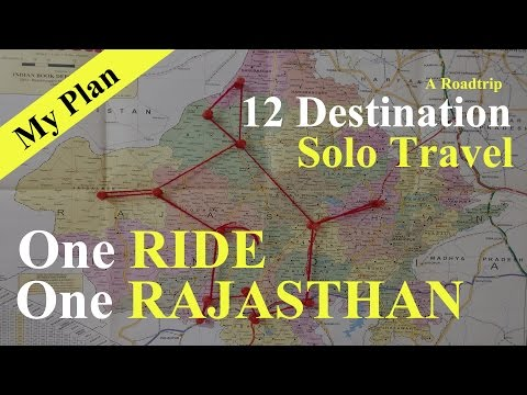Rajasthan Roadtrip plan   12 Desitination Travel   Solo Ride   RE Himalayan