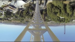 Full Throttle Roller Coaster REAL POV Six Flags Magic Mountain SFMM 2013