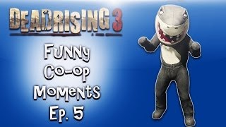 Dead Rising 3 Funny Co-op Moments ep. 5 (Jedi Shark, Rocket Gloves, Fat Lady Boss)