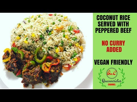 HOW TO COOK COCONUT FRIED RICE  / QUICK, SIMPLE & EASY COCONUT RICE