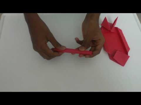 How to make an origami military tank