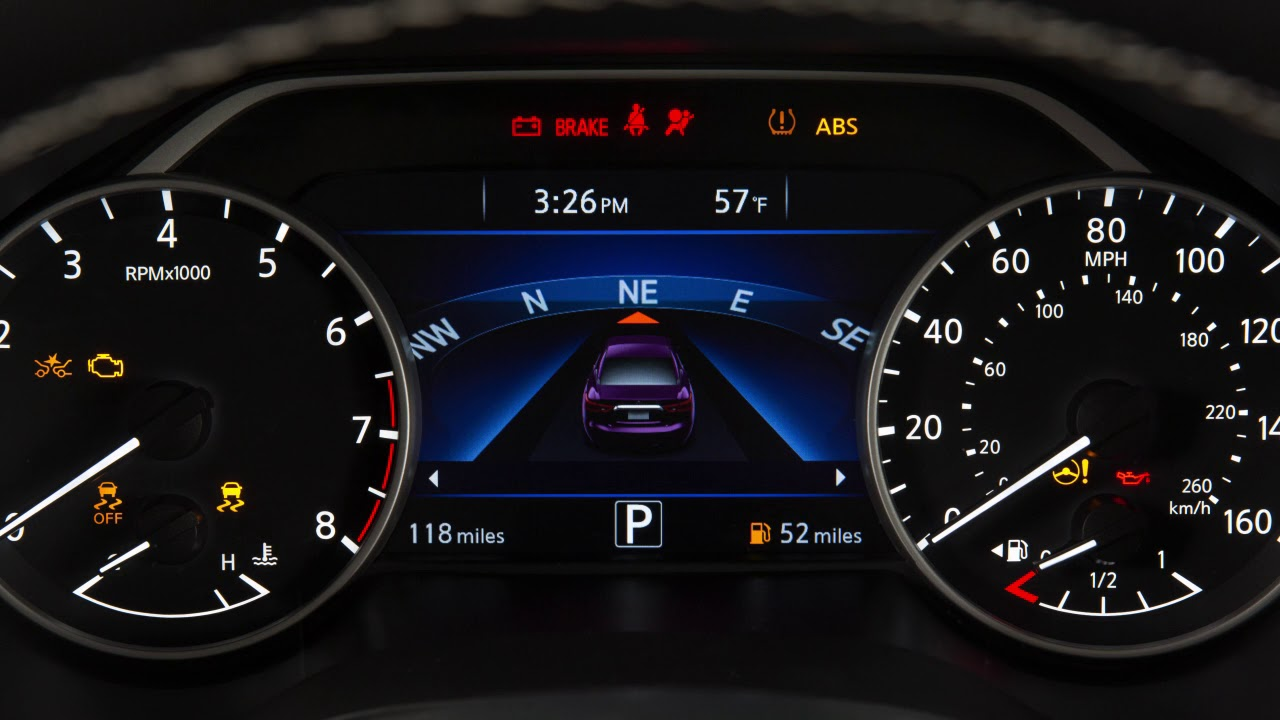 2018 Nissan Maxima Warning And Indicator Lights