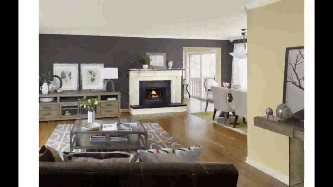 Kitchen living room color schemes youtube for Living room color combination ideas