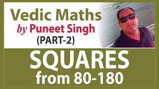 Gambar cover Vedic Maths: Part-2 | Squares from 80-180 | R&A| by Puneet Singh | MADE EASY Faculty