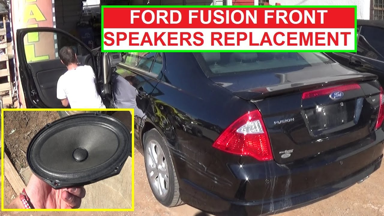 Ford Fusion Front Door Speaker Removal And Replacement 2009 2010 2011 2012 Ford Fusion Youtube