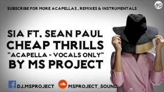 Sia - Cheap Thrills ft. Sean Paul (Acapella - Vocals Only) + DL