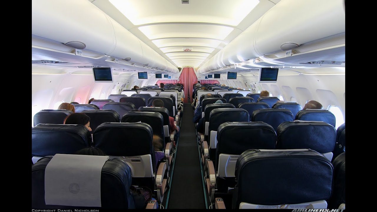 Turkish airlines a320 200 economy class full flight for Interieur d un avion air france