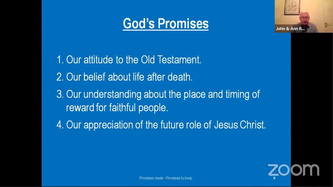 God's promises: A basis for living