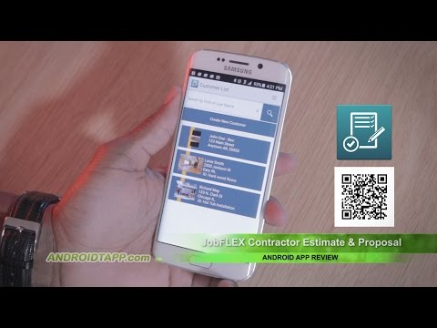 JobFLEX Contractor Estimate & Proposal (Android App Review)
