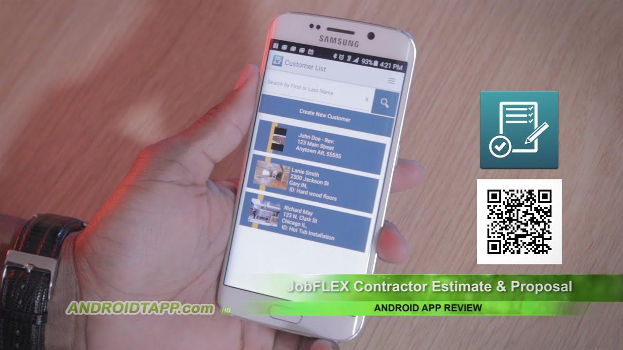JobFLEX Contractor Estimate & Proposal (Android App Review)