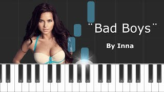 inna bad boys piano tutorial chords how to play cover
