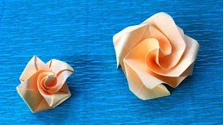 как Быстро Сделать Розу Из Одного Квадрата Бумаги. Розы Для Открыток, Коробочек, Панно