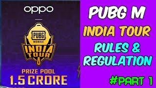 Pubg Mobile India Tour New Tournament || Rules & Regulations || Part 1 (Hindi)