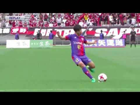 【惜しい!】FC東京 久保建英選手が直接フリーキックで狙うも、わずかに枠の外!「2017 Jリーグ YBCルヴァンカップ グループステージ第4節」