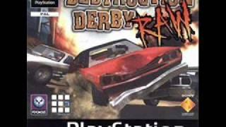 Destruction Derby Raw - Main Menu