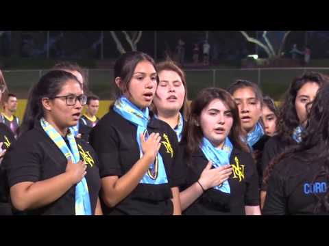 Las Vegas Youth Choir sings National Anthem at Las Vegas Lights v RGV Toros soccer game (LLDM)