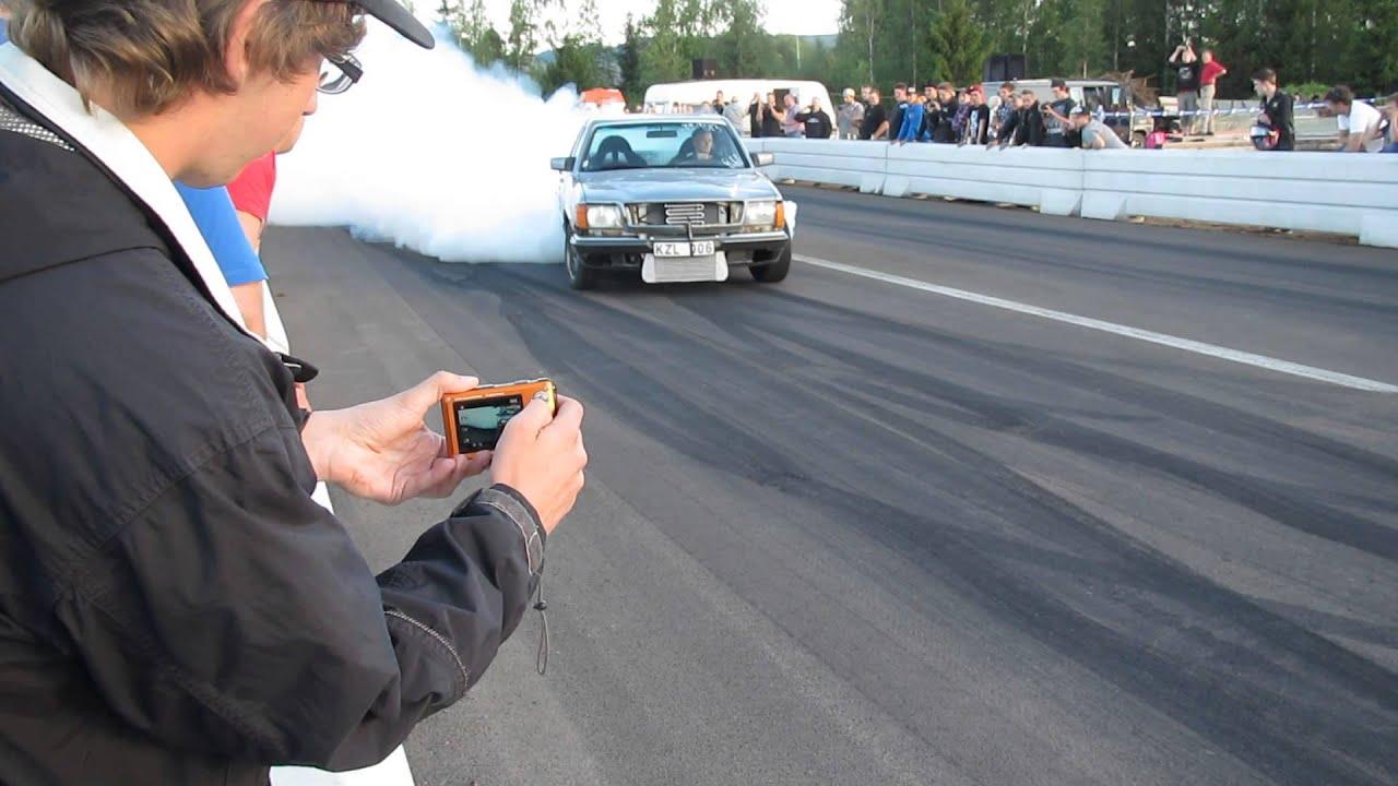 älvdalens Musik Motorfestival 2012 Burnouttävling Mercedes Youtube
