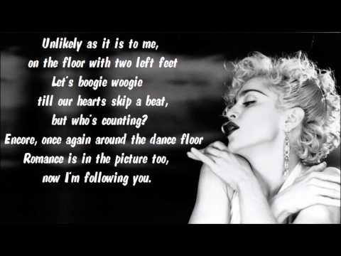 Madonna - Now I'm Following You (Part I) Karaoke / Instrumental with lyrics on screen