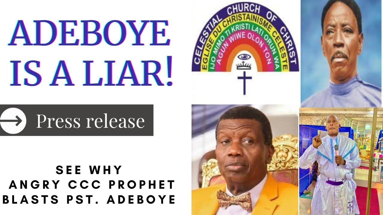 """Download BREAKING: """"You Lied"""" Angry CCC Prophet to Pst. Enoch Adeboye on Pa. Oshoffa [FULL VIDEO]"""