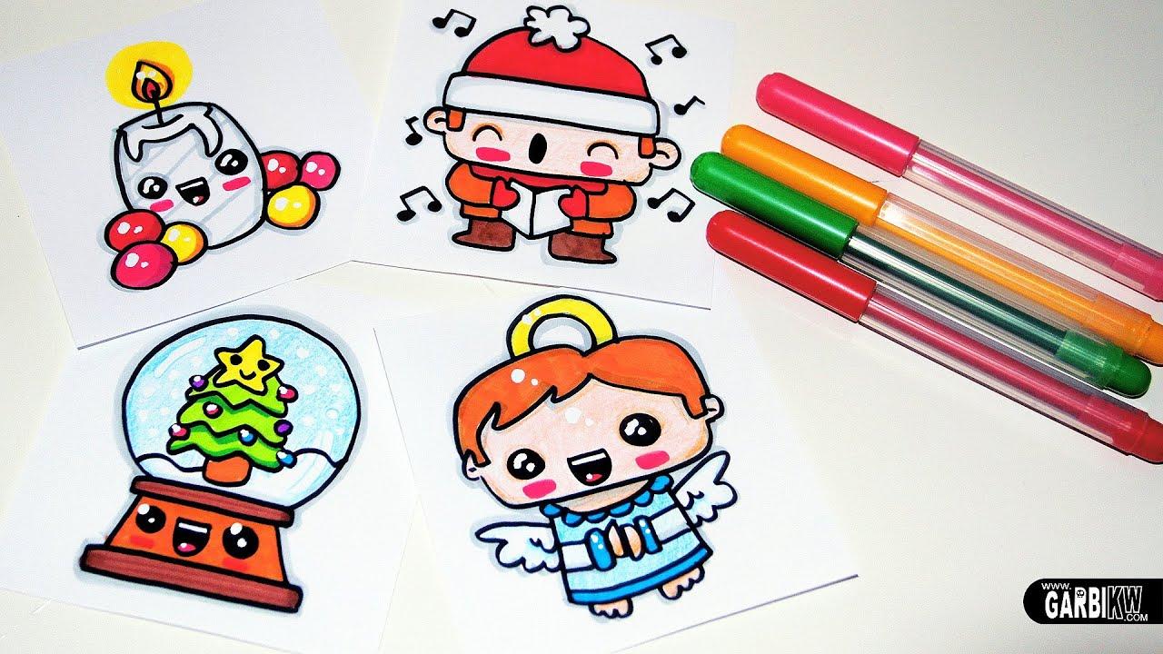 Drawing Cute Christmas Easy and Kawaii Drawings by Garbi ...